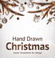Hand Drawn Christmas vector image vector image
