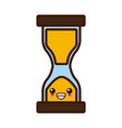 hourglass sandtime isolated cute kawaii cartoon vector image vector image
