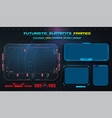 hud uiux gui futuristic user interface screen vector image vector image