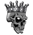 human death skull in crown vector image