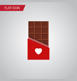 isolated bitter flat icon chocolate vector image vector image