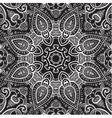 Lace background White on black Mandala vector image