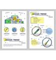 line art design trend poster banner vector image vector image