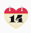 Loose-leaf valentines day calendar icon