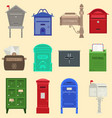 mailboxes with semaphore flag vector image