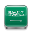 Metal icon of Saudi Arabia vector image vector image
