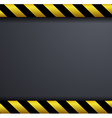 Metal warning background vector image vector image