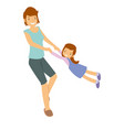 mother and daughter playing fun activity vector image vector image