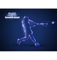Motion design Baseball Batter Hitting Ball Blur vector image vector image
