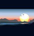 mountain valley minimalistic vector image vector image
