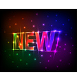 NEW text made of colored neon effect vector image vector image