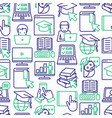 online education seamless pattern vector image vector image