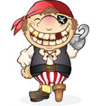 pirate boy costume cartoon character vector image vector image