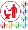 plumbing work symbol icon vector image vector image
