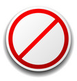 prohibition sign isolated on white for no entry vector image vector image