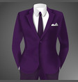 purple business suit template vector image