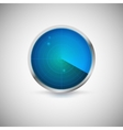 radial screen blue color with targets vector image