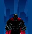 raging superhero city silhouette vector image vector image