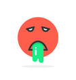 red vomits emoji icon vector image vector image