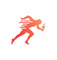 run sprint running man logo design vector image vector image