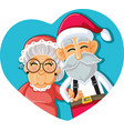 santa and mrs claus christmas couple vector image