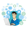 Shop internet vector image