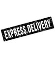 square grunge black express delivery stamp vector image vector image