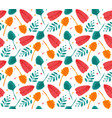 summer seamless pattern template brush vector image vector image