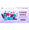 teamwork business management workflow web page vector image