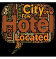 The Top 10 Funky Hotels text background wordcloud vector image vector image