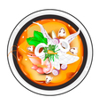 Tom Yum or Thai Spicy and Sour Soup with Squid vector image vector image