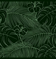 tropical seamless natural pattern of exotic leaves vector image