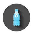 water bottle icon in flat style bottle with long vector image