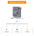 wire framing web layout development business flow vector image