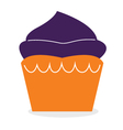 Beautiful cute double color Muffin for Halloween vector image