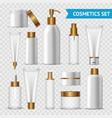 transparent cosmetics icon set vector image