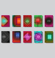 abstract squares design colorful cover set vector image