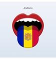 Andorra language Abstract human tongue vector image vector image