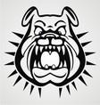 angry bulldog face
