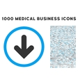 Arrow Down Icon with 1000 Medical Business vector image vector image