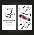 barbershop business card concept vector image vector image