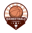 basketball sport championship stamp image vector image
