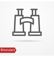 Binoculars silhouette icon vector image vector image
