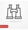 Binoculars silhouette icon vector image