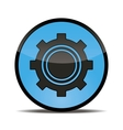 blue button setting for your use vector image vector image