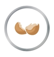 Broken eggshell icon in cartoon style isolated on vector image vector image