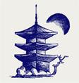 Buddhist Zen Temple vector image vector image