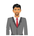 businessman with beard icon vector image vector image