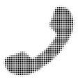 call halftone icon vector image