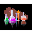 Chemical Tubes With Colorful Liquids vector image